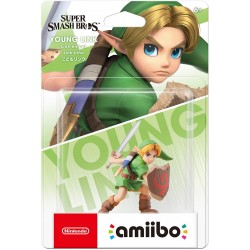 AMIIBO SUPER SMASH BROS YOUNG LINK FIGURU