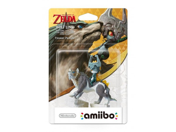 AMIIBO THE LEGEND OF ZELDA WOLF LINK FIGURU