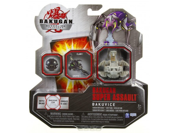 BAKUGAN GUNDALIAN INVADERS SUPER ASSAULT SERIES BAKUVICE V1 SINGLE FIGURE