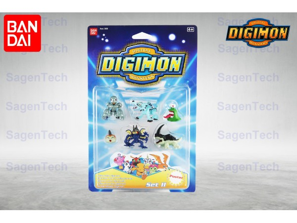 BANDAI DIGIMON 6 LI MINI SET - SERI 2 ORJINAL URUN