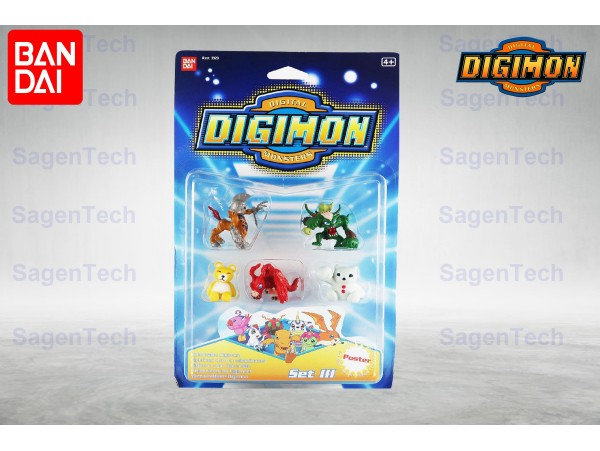 BANDAI DIGIMON 6 LI MINI SET - SERI 3 ORJINAL URUN