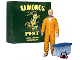 "BREAKING BAD JESSE PINKMAN 6"" ACTION FIGURE - ORANGE HAZMAT SUIT EE EXCLUSIVE"