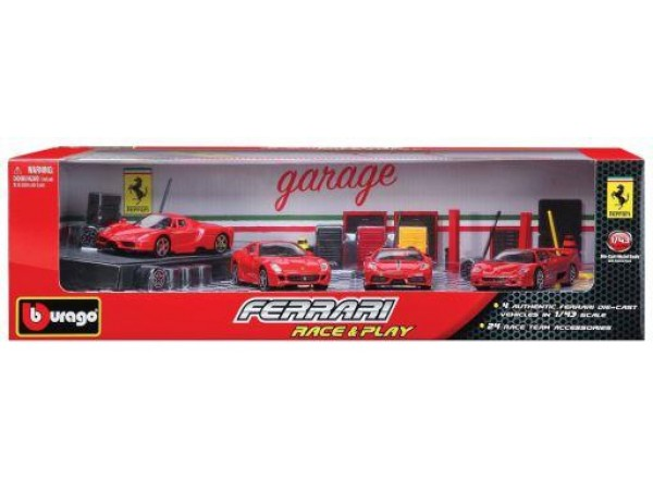 BURAGO FERRARI RACE & PLAY 4LU ARAC SETI