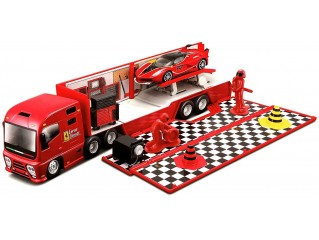 BURAGO FERRARI RACE & PLAY RACING HAULER