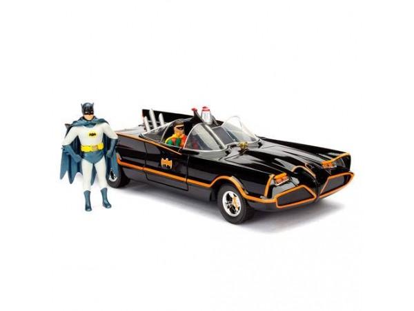 DC COMICS BATMAN CLASSIC TV BATMOVIL 1966 METAL CAR & FIGURE SET
