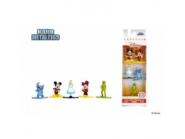 Disney Nano 5'li Metal Figür 4 Cm - Stitch Mickey Minnie Kermit Alice