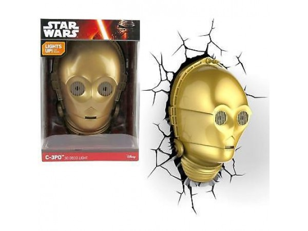 DISNEY STAR WARS C-3PO 3D DECO LIGHT