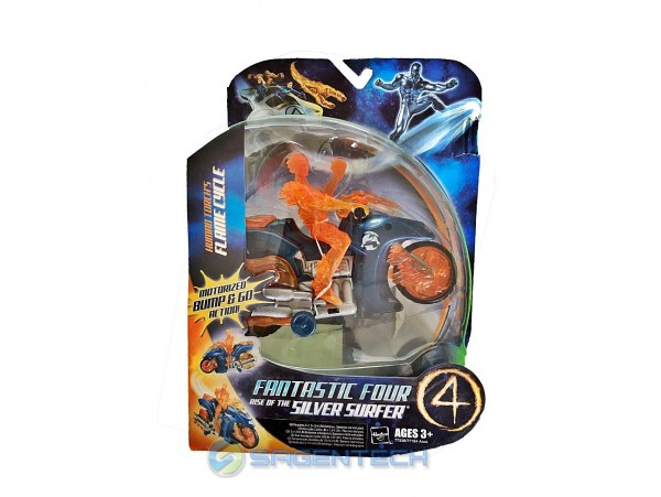 Fantastic Four Vehicle Set - Torch's Flame Cycle Figür 20 Cm Hasbro