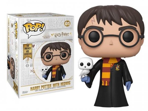 FUNKO POP 18 INCH HARRY POTTER WITH HEDWIG 46CM DEV BOYUT