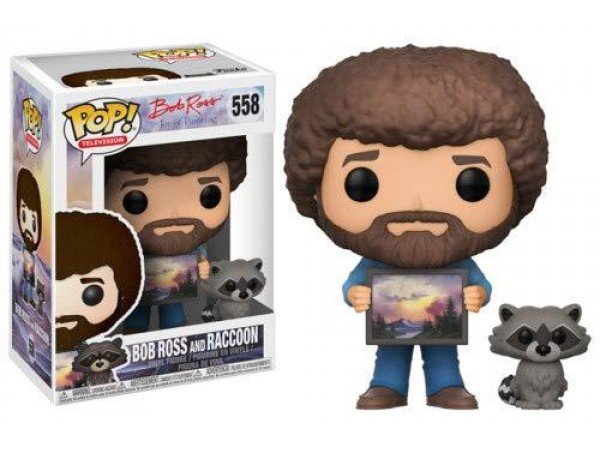 FUNKO POP BOB ROSS AND RACCON