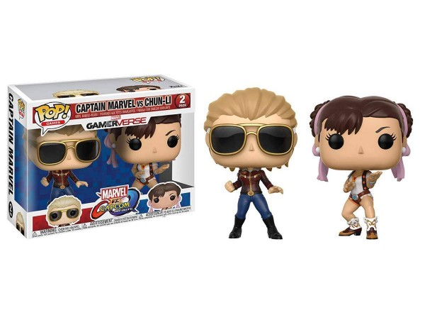 FUNKO POP CAPTAIN MARVEL VS CHUN-LI  FIGURU