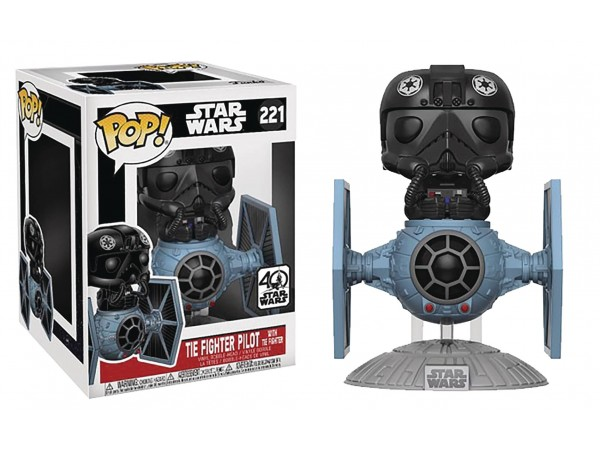 FUNKO POP STAR WARS DELUXE TIE FIGHTER WITH TIE PILOT 6 INCH