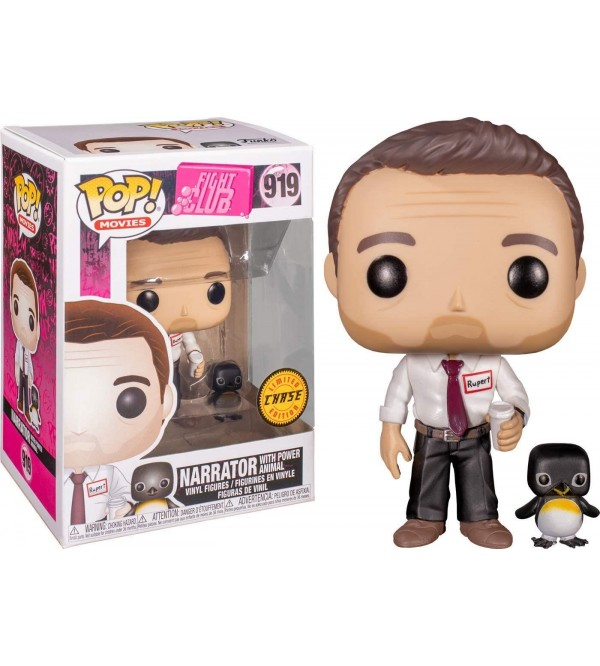 FUNKO POP FIGHT CLUB NARRATOR WITH POWER ANIMAL LIMITED CHASE EDITION