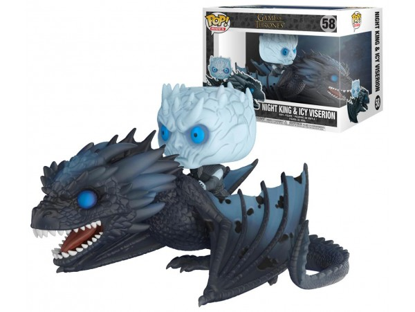 FUNKO POP GAME OF THRONES VISERION AND NIGHT KING 18CM