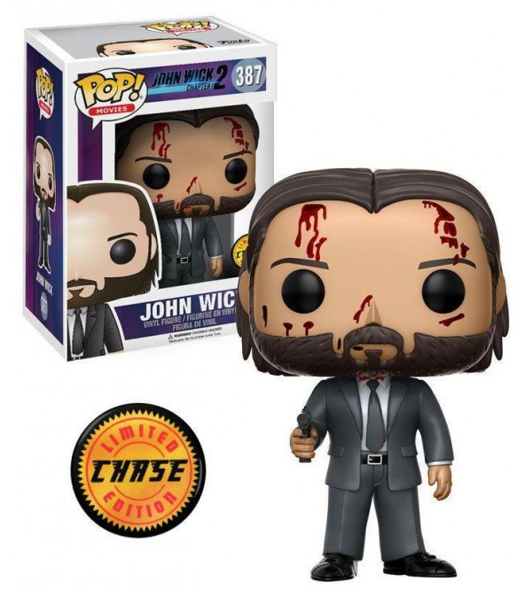 FUNKO POP JOHN WICK CHAPTER 2 LIMITED CHASE FIGURU