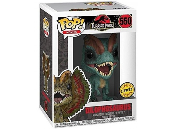 FUNKO POP JURASSIC PARK 25TH DILOPHOSAURUS CHASE LIMITED EDITION