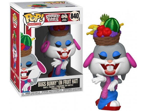 FUNKO POP LOONEY TUNES 80TH BUGS BUNNY IN FRUIT HAT