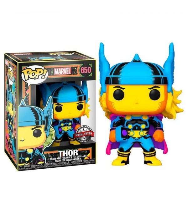 FUNKO POP MARVEL BLACK LIGHT THOR SPECIAL EDITION