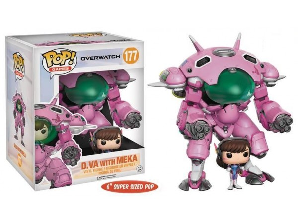 FUNKO POP OVERWATCH D.VA WITH MEKA 15 CM FIGUR