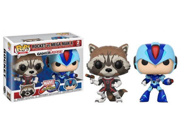 FUNKO POP ROCKET RACOON VS MEGA MAN X FIGURU