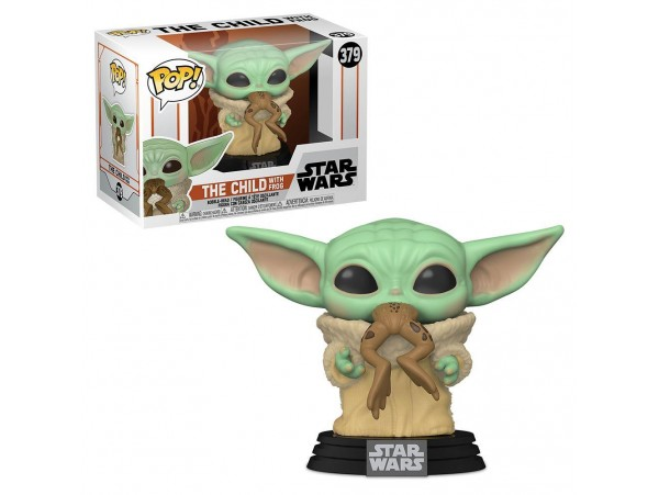 Funko Pop Star Wars Mandalorian The Child Yoda W Frog Figürü