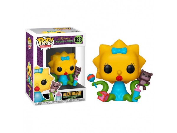 FUNKO POP THE SIMPSON TREEHOUSE OF HORROR ALIEN MAGGIE FIGURU