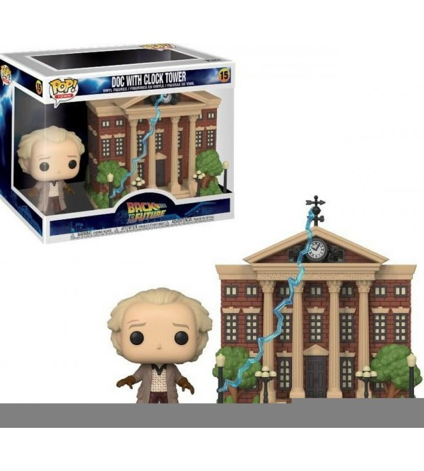 FUNKO POP TOWN BACK TO THE FUTURE - DOC WITH CLOCK TOWER