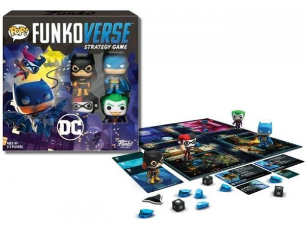 FUNKOVERSE DC COMICS STRATEGY GAME (4 PACK)