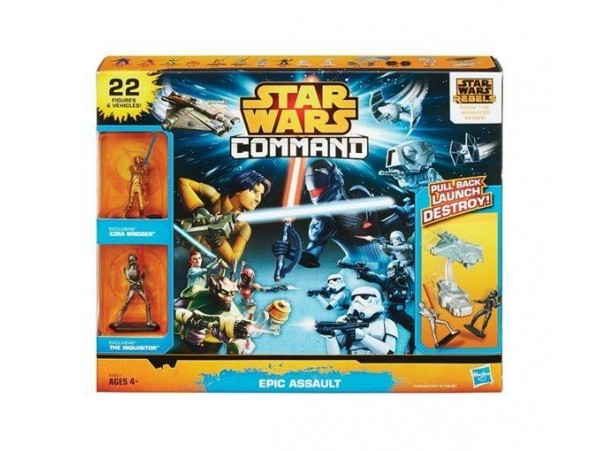 HASBRO STAR WARS COMMAND EPIC BATTLE - 22 MINI FIGURLU