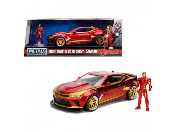 JADA TOYS MARVEL 1:24 SCALE IRON MAN 2016 CEVY CAMARO