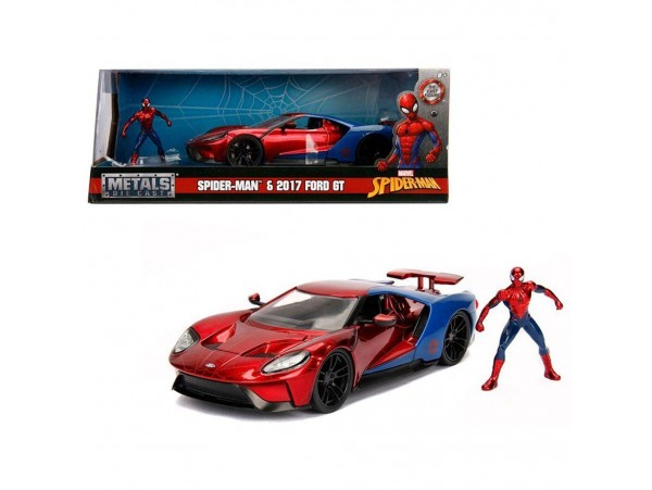 JADA TOYS MARVEL 1:24 SCALE SPIDER-MAN 2017 FORD GT