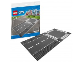 LEGO CITY - ROAD BASE PLATES - DARK GREY - JUNCTION CORNER - 25CM SQUARE 7280