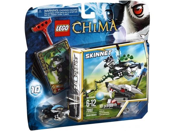LEGO LEGENDS OF CHIMA SKUNK JUMP ATTACK - SKINNET 70107
