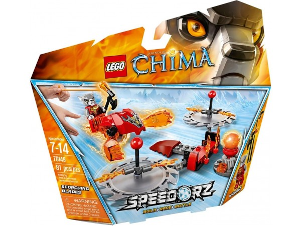 LEGO LEGENDS OF CHIMA SPEEDORZ SCORCHING BLADES 70149