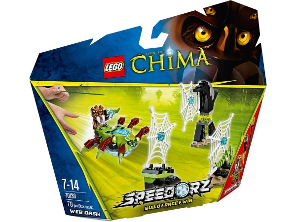 LEGO LEGENDS OF CHIMA SPEEDORZ WEB DASH 70138