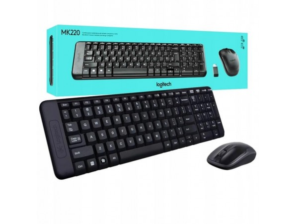 LOGITECH MK220 WIRELESS DESKTOP KABLOSUZ KLAVYE MOUSE SETI