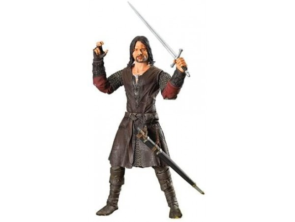 "LORD OF THE RINGS 11"" DELUXE POSEABLE ARAGORN FIGURU"