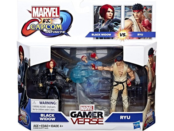 MARVEL GAMERVERSE HASBRO MARVEL VS CAPCOM - BLACK WIDOW VS RYU 10CM