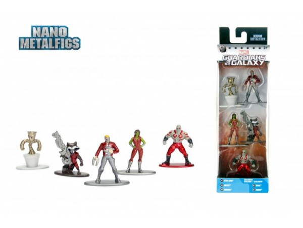 MARVEL GUARDIANS OF THE GALAXY NANO 5'LI METAL FIGUR 4 CM