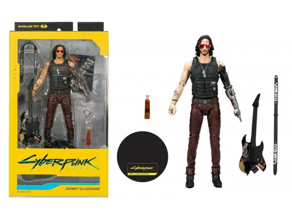 McFarlane Toys Cyberpunk 2077 Johnny Silverhand Guitar Action Figür