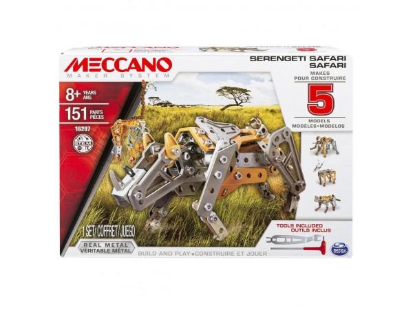 MECCANO 5 MODELLI VAHSI HAYVANLI SET - 151 PARCA