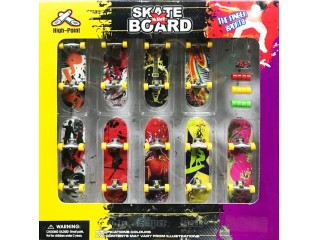 Mini Skate Board Parmak Kaykay - 9 Kaykay 36 Parcali Set V2
