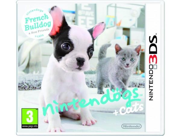 NINTENDO 3DS NINTENDOGS FRENCH BULLDOG + CATS