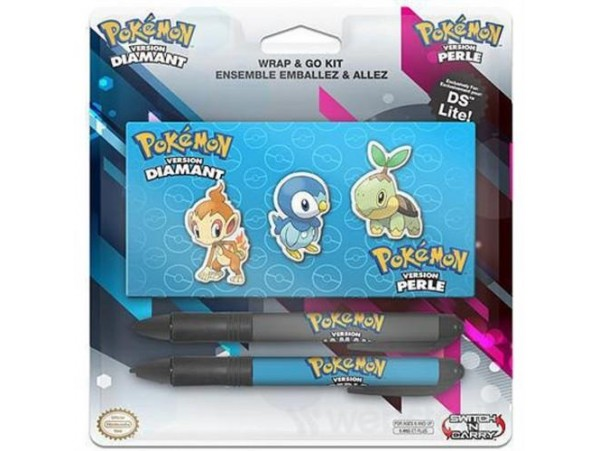 NINTENDO DS ORJINAL POKEMON KIT 2 KALEM + STICKER