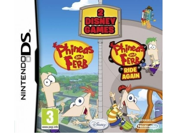 NINTENDO DS PHINEAS AND FERB  + PHINEAS AND FERB RIDE AGAIN