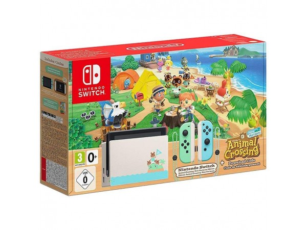 Nintendo Switch Animal Crossing Edition Konsol + Oyun Kodu