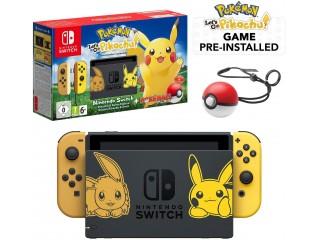 Nintendo Switch Pikachu Limited Edition Konsol+ Pokeball + Oyun