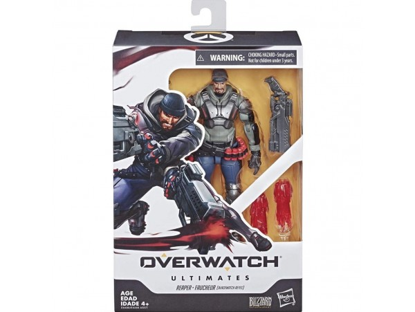 OVERWATCH ULTIMATES SERIES BLACKWATCH REYES REAPER HASBRO 6""