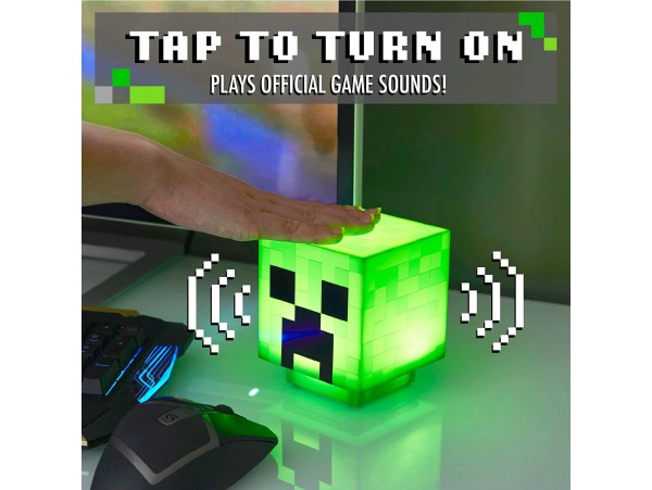 PALADONE MINECRAFT CREEPER LIGHT WITH ZOMBIE SOUNDS 11CM