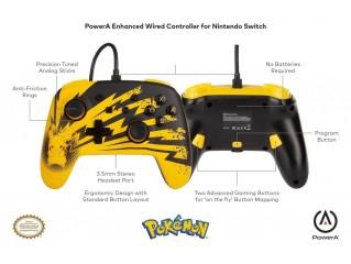 Pokemon Enhanced Kablolu Controller Lisanslı Powera